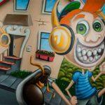 Graffiti der Hörlounge