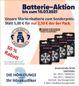Batterie-Angebot 2021