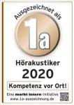 1a-Auszeichnung Hörakustik 2020